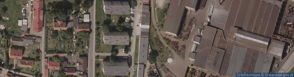Zdjęcie satelitarne Zaułek Fabryczny ul.