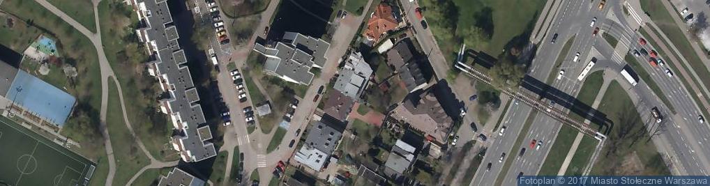 Zdjęcie satelitarne Zamiejska ul.