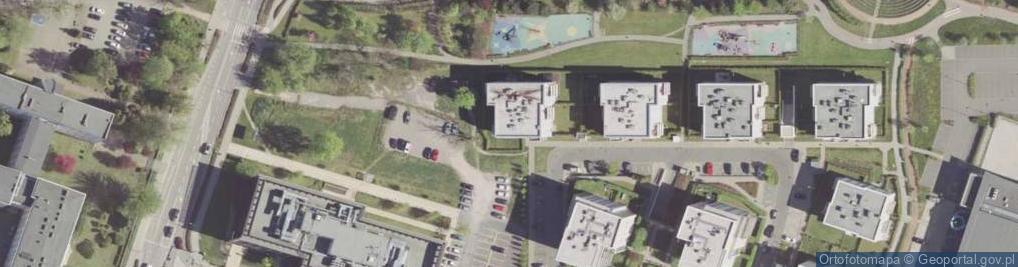 Zdjęcie satelitarne Zegara Słonecznego ul.