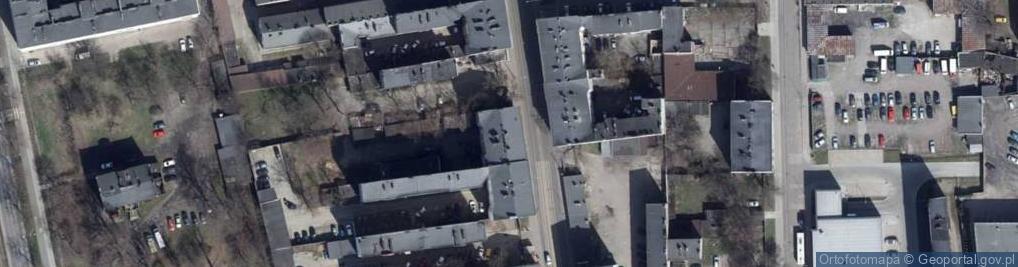 Zdjęcie satelitarne Zgierska ul.