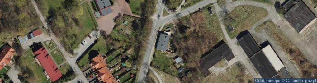 Zdjęcie satelitarne Zielona ul.