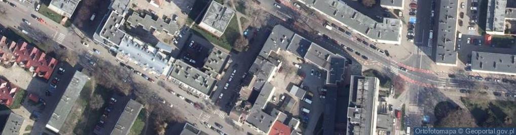 Zdjęcie satelitarne Źródlana ul.
