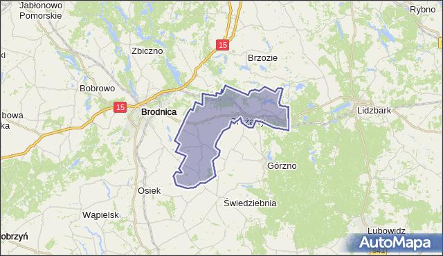 gmina Bartniczka - powiat brodnicki na mapie Targeo