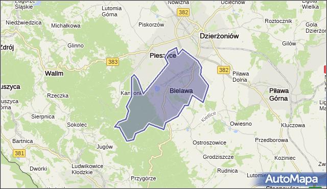 gmina Bielawa - powiat dzierżoniowski na mapie Targeo