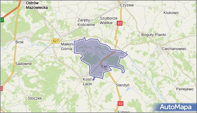 gmina Ceranów - powiat sokołowski na mapie Targeo