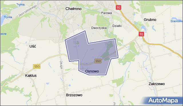 gmina Chełmno - powiat chełmiński na mapie Targeo