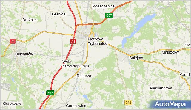 gmina Czarnocin - powiat piotrkowski na mapie Targeo