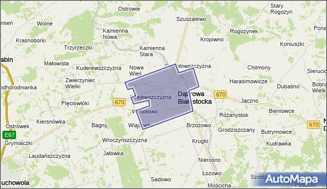 gmina Dąbrowa Białostocka - powiat sokólski na mapie Targeo