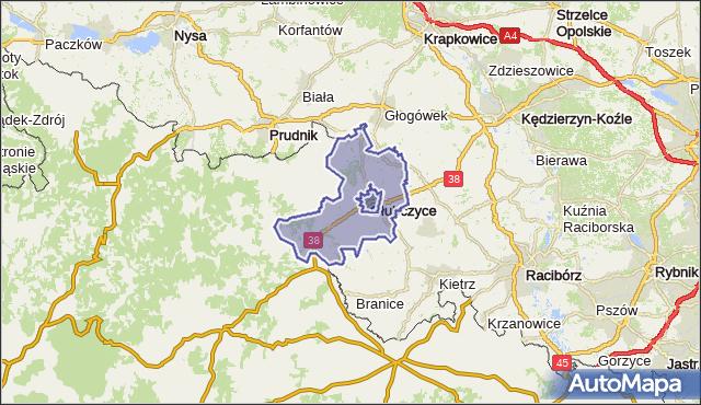 gmina Głubczyce - powiat głubczycki na mapie Targeo