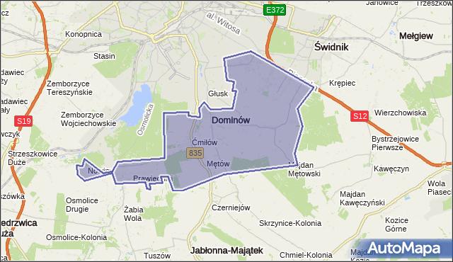 gmina Głusk - powiat lubelski na mapie Targeo