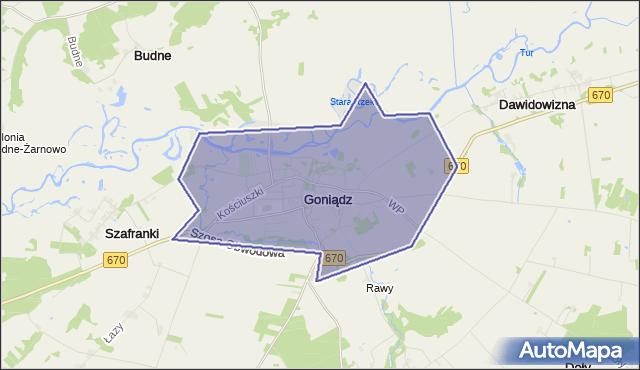 gmina Goniądz - powiat moniecki na mapie Targeo