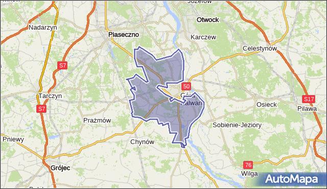 gmina Góra Kalwaria - powiat piaseczyński na mapie Targeo
