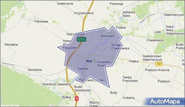 gmina Iłża - powiat radomski na mapie Targeo