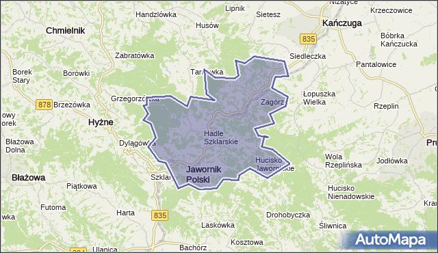gmina Jawornik Polski - powiat przeworski na mapie Targeo