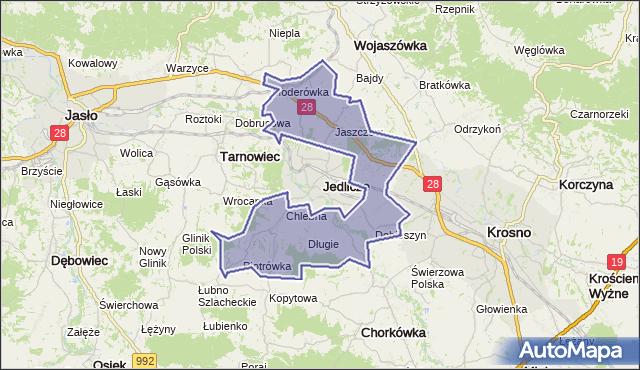 gmina Jedlicze - powiat krośnieński na mapie Targeo
