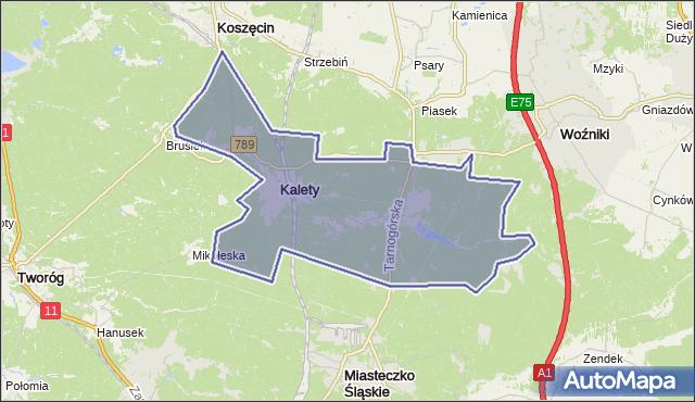 gmina Kalety - powiat tarnogórski na mapie Targeo