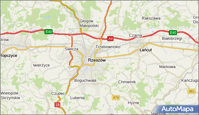 gmina Kamień - powiat rzeszowski na mapie Targeo