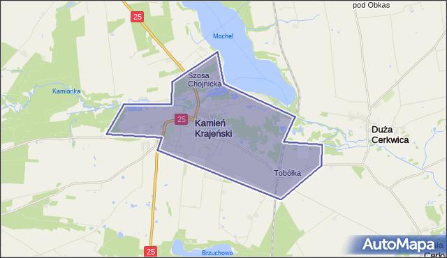 gmina Kamień Krajeński - powiat sępoleński na mapie Targeo