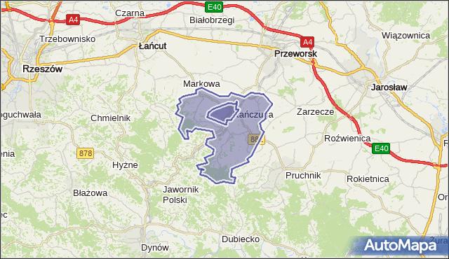 gmina Kańczuga - powiat przeworski na mapie Targeo