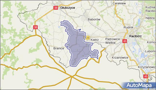 gmina Kietrz - powiat głubczycki na mapie Targeo