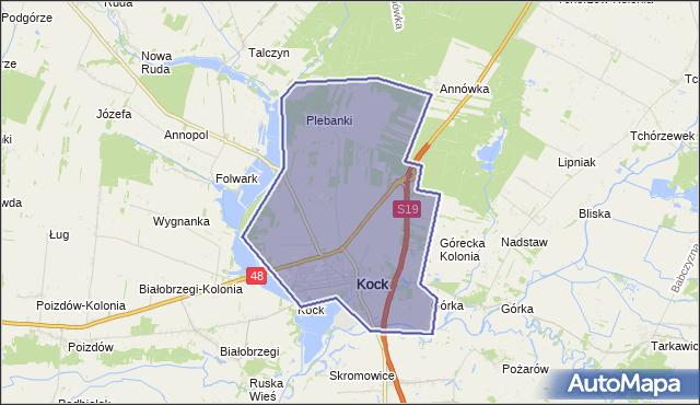 gmina Kock - powiat lubartowski na mapie Targeo