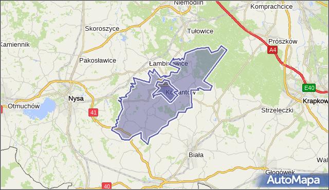 gmina Korfantów - powiat nyski na mapie Targeo