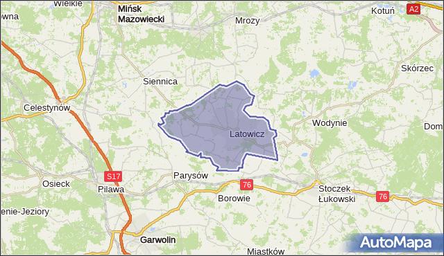 gmina Latowicz - powiat miński na mapie Targeo