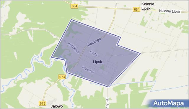 gmina Lipsk - powiat augustowski na mapie Targeo