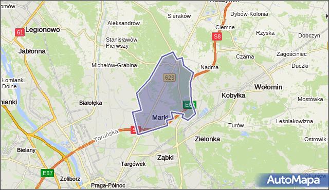 gmina Marki - powiat wołomiński na mapie Targeo