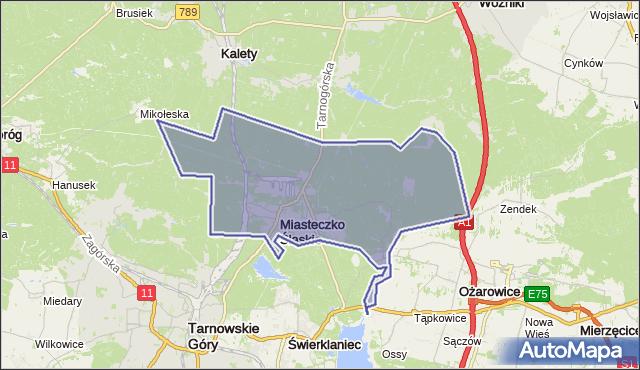 gmina Miasteczko Śląskie - powiat tarnogórski na mapie Targeo