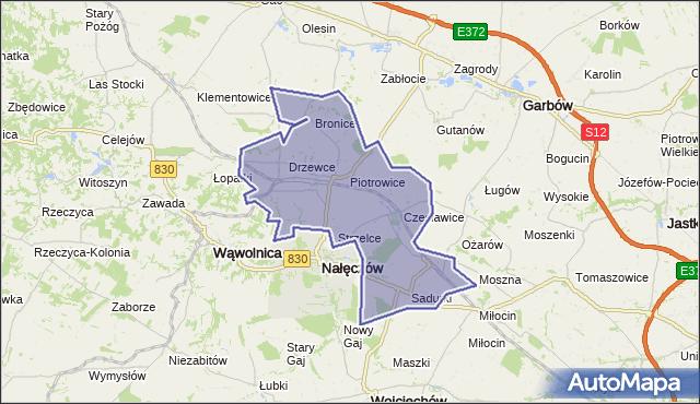 gmina Nałęczów - powiat puławski na mapie Targeo
