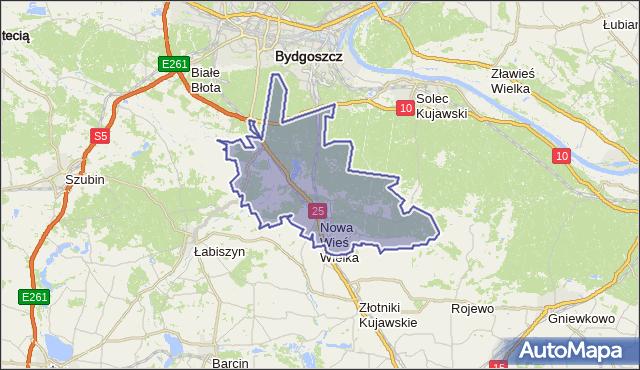 gmina Nowa Wieś Wielka - powiat bydgoski na mapie Targeo