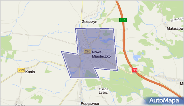 gmina Nowe Miasteczko - powiat nowosolski na mapie Targeo