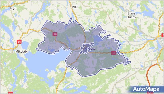 gmina Orzysz - powiat piski na mapie Targeo