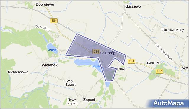 gmina Ostroróg - powiat szamotulski na mapie Targeo