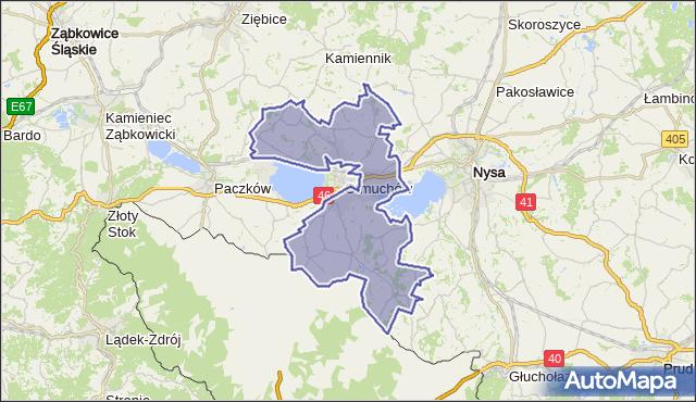 gmina Otmuchów - powiat nyski na mapie Targeo