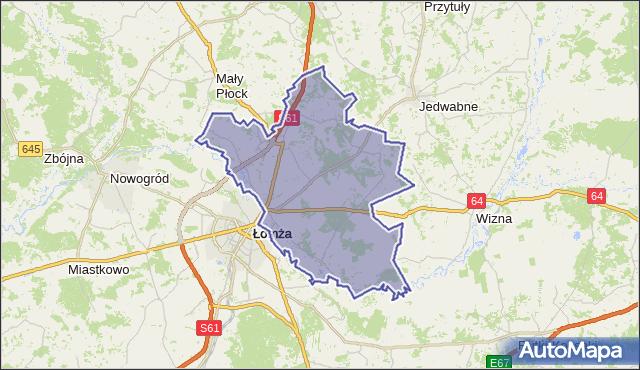 gmina Piątnica - powiat łomżyński na mapie Targeo