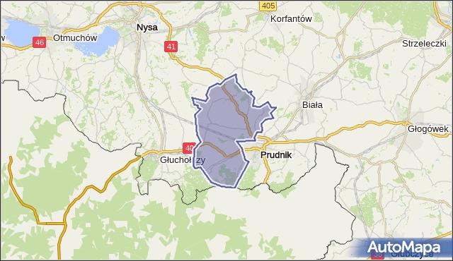 gmina Prudnik - powiat prudnicki na mapie Targeo