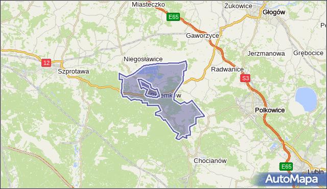 gmina Przemków - powiat polkowicki na mapie Targeo