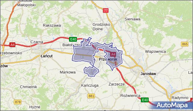 gmina Przeworsk - powiat przeworski na mapie Targeo