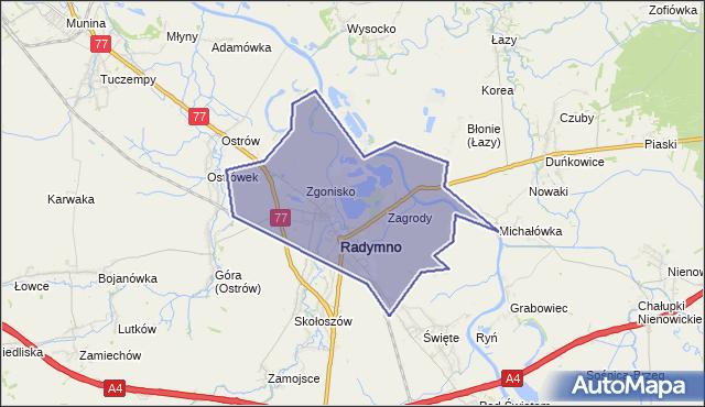 gmina Radymno - powiat jarosławski na mapie Targeo