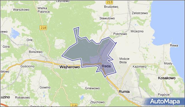 gmina Reda - powiat wejherowski na mapie Targeo