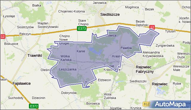 gmina Rejowiec Fabryczny - powiat chełmski na mapie Targeo