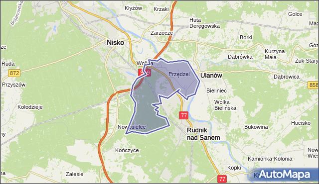 gmina Rudnik nad Sanem - powiat niżański na mapie Targeo
