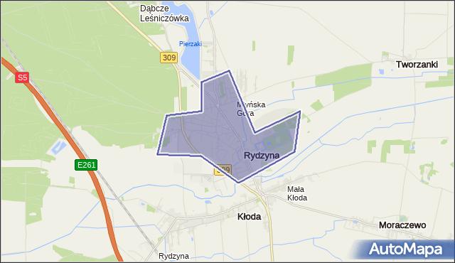 gmina Rydzyna - powiat leszczyński na mapie Targeo