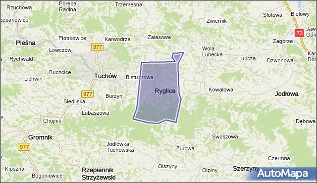 gmina Ryglice - powiat tarnowski na mapie Targeo