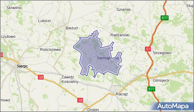 gmina Siemiątkowo Koziebrodzkie - powiat żuromiński na mapie Targeo