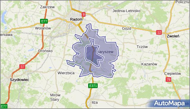 gmina Skaryszew - powiat radomski na mapie Targeo