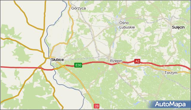 gmina Słubice - powiat słubicki na mapie Targeo