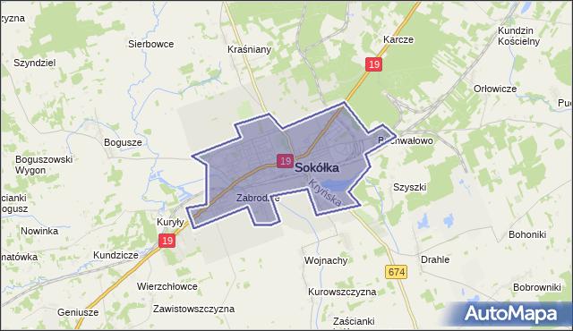 gmina Sokółka - powiat sokólski na mapie Targeo